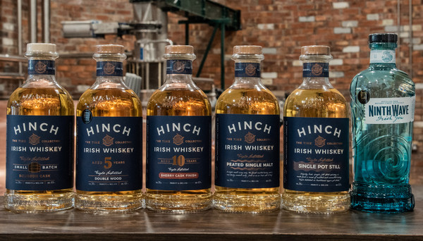 Hinch Distillery announces partnerships with new dist**butors, Chopin in US and Brandwerk in Taiwan, and wins a globally recognised Trophy at the China Wine and Spi**t Awards. Ninth Wave I**sh gin was awarded Double Gold and 'Gin of the Year', the distillery's first-ever Trophy win. It also received three CWSA awards for its I**sh whiskey range: Double Gold for Hinch 10 Year Old Sherry Finish, Gold for Hinch 5 Year Old Double Wood and Silver for Hinch Peated Single Malt.